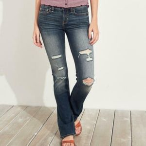 Hollister Boot Cut Low Mid Rise Jeans 9R 29x33